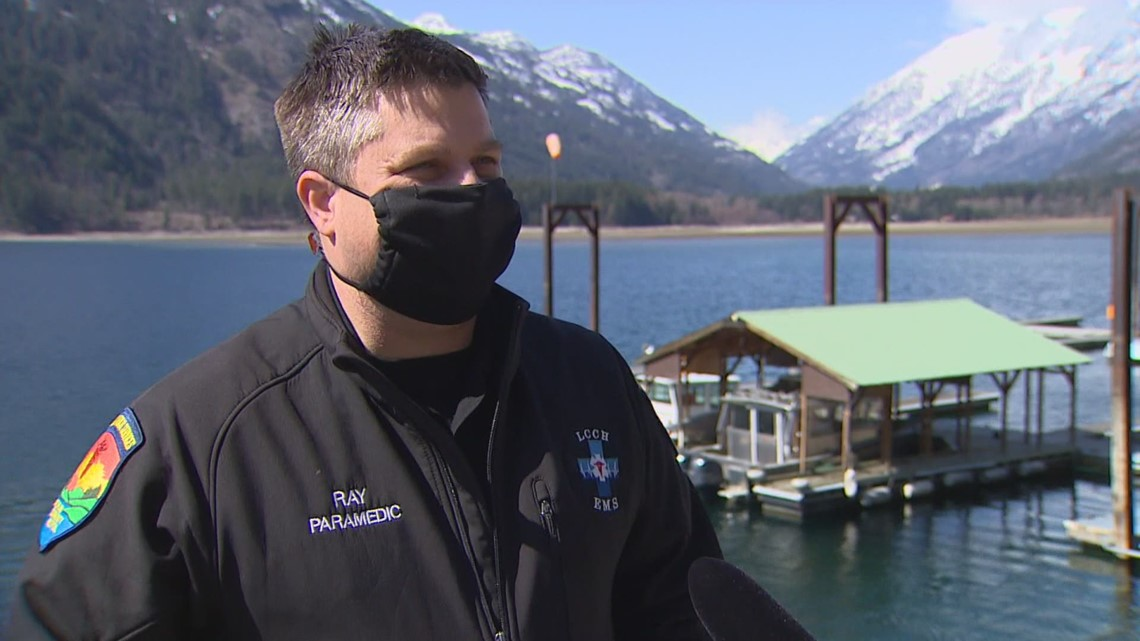 'Feels like Christmas': Isolated Chelan County residents get COVID-19 vaccines by boat