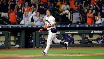 Brantley homers in 13th, Astros rally past Mariners 11-9