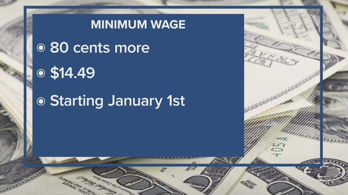 Minimum wage in Washington goes up in 2022