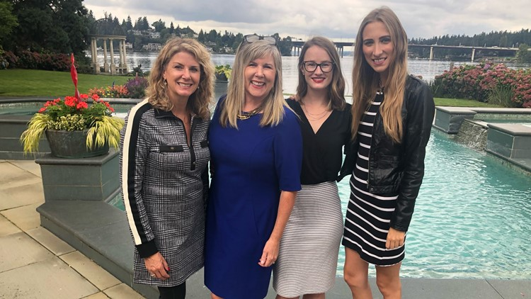 Kara Wiper, Jen Harper, Hannah Fisher and Erica Laucius form The Jen Harper Team.