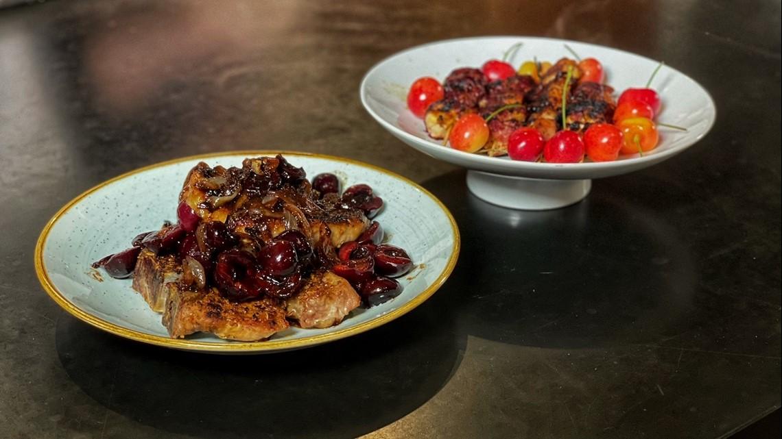 Change up your dinner using  Washington cherries - Douglas Demo