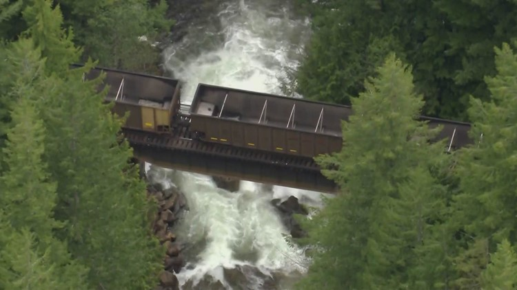 Man and woman narrowly escape oncoming freight train at Deception Falls