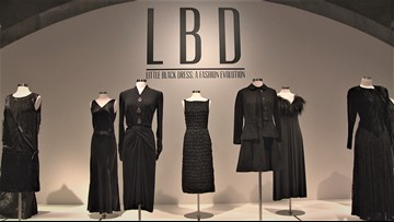 Dozens of historic little black dresses are on display in Tacoma