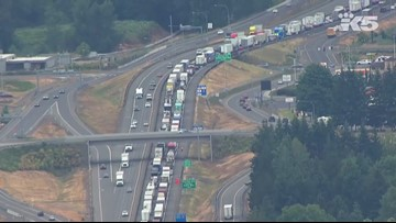 Crash near Centralia blocks NB I-5 for hours