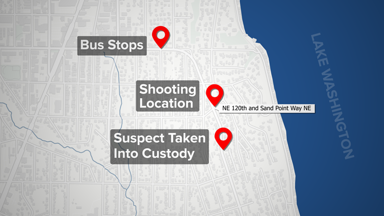 Map of Seattle shooting near Lake City
