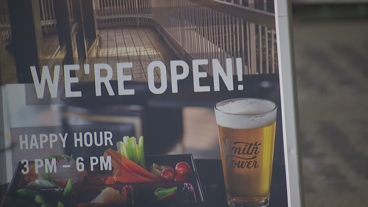 Pioneer Square businesses celebrate return of fans at Mariners games