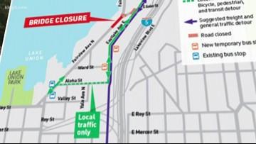 Fairview Avenue bridge in Seattle closes for 18 months