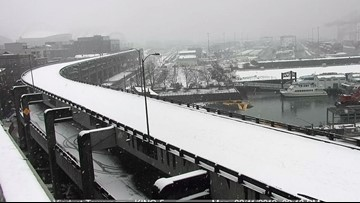 Snow pushes back Seattle viaduct demolition