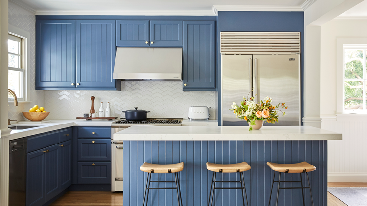 The latest design trends for the kitchen and living room