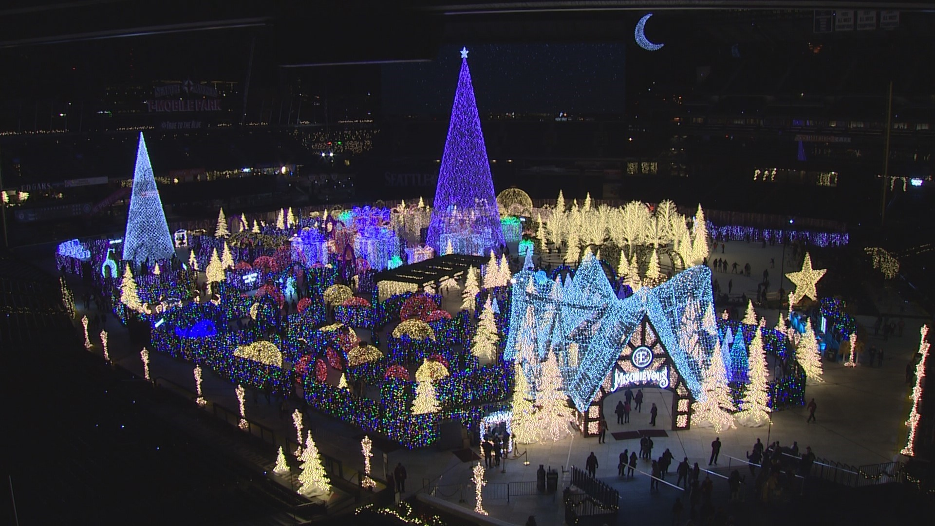 Christmas Day Bird Count 2020 Seattle World's largest Christmas maze lights up the Mariners' field