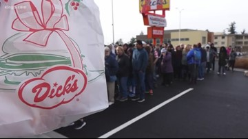 Dick's Drive-In grand opening in Kent