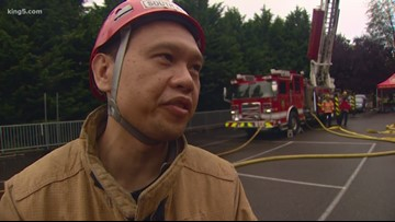 Harborview medical staff learn what it's like to be a firefighter