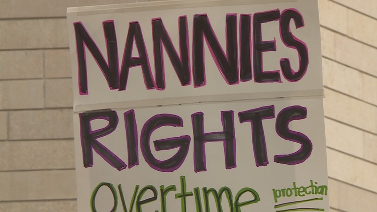 "Dozens of domestic workers rallied before a ""Bill of Rights"" was introduced in a Seattle City Council committee meeting."