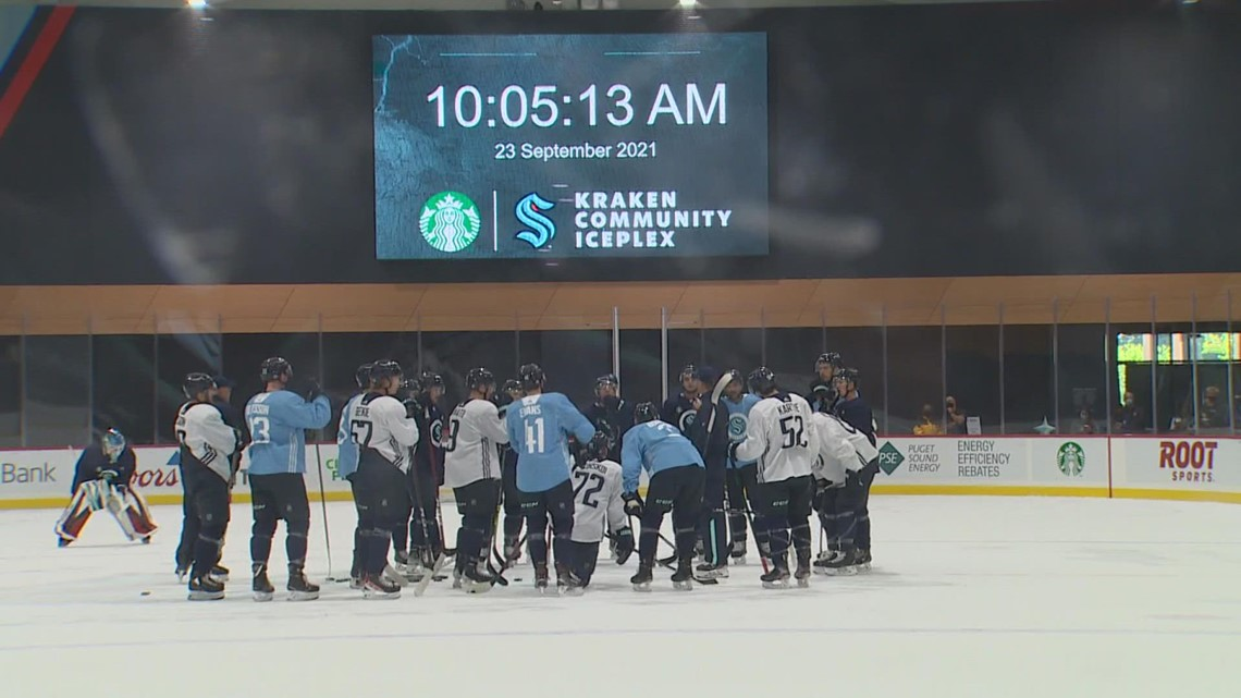 Seattle Kraken celebrate first day of training camp in Northgate