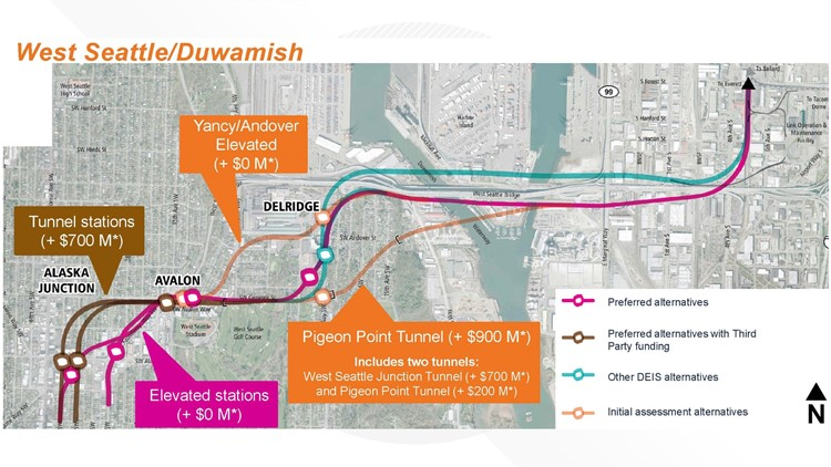 west seattle light rail options