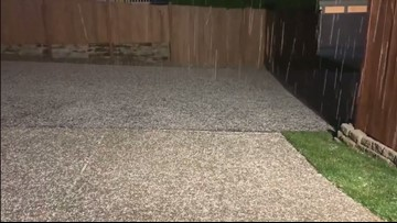 Hail in Puyallup area Monday evening