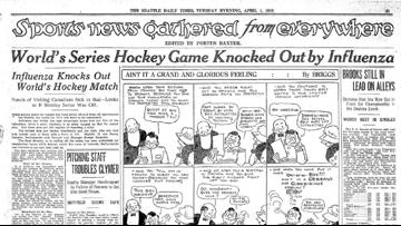 A pandemic known as the Spanish Flu ended Seattle's Stanley Cup Final 101 years ago