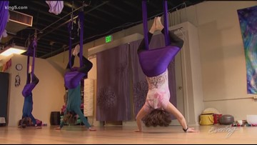 Why people are flipping for antigravity yoga - KING 5 Evening