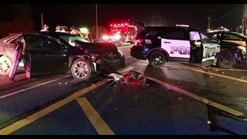 Driver arrested for DUI after crashing into Arlington police vehicle