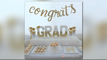 Get to celebrating with a Glitter & Gold Glam Graduation party