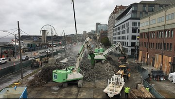 The Alaskan Way Viaduct is rubble and now you can have a piece