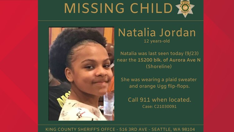 Search for missing 12-year-old girl last seen in Shoreline