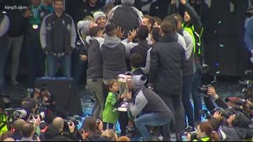 Sounders celebrate MLS Cup at Seattle rally