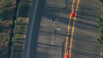 Slow-moving landslide blocks lane of SR 203 between Carnation and Duvall