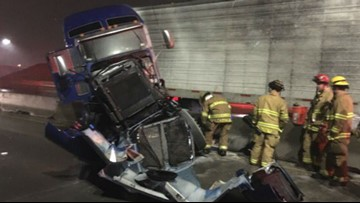 Morning commute spins out of control thanks to several crashes during the 'Squeeze'