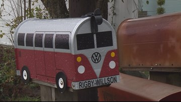 A personal story drives each of The Bus Box's Volkswagen-themed mailboxes
