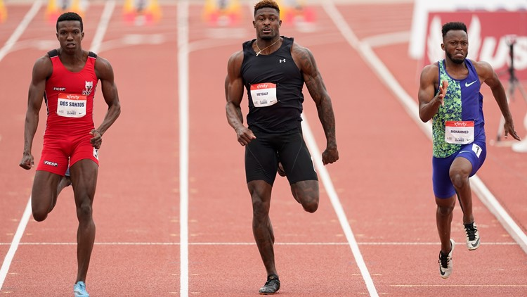 Metcalf turns in respectable 100 time, finishes last in heat