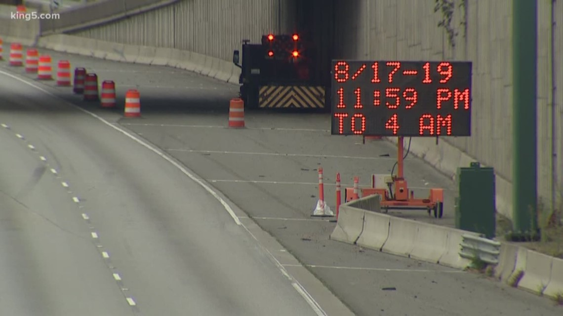 Bellevue I-405 construction closures
