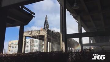 Raw: Seattle viaduct teardown