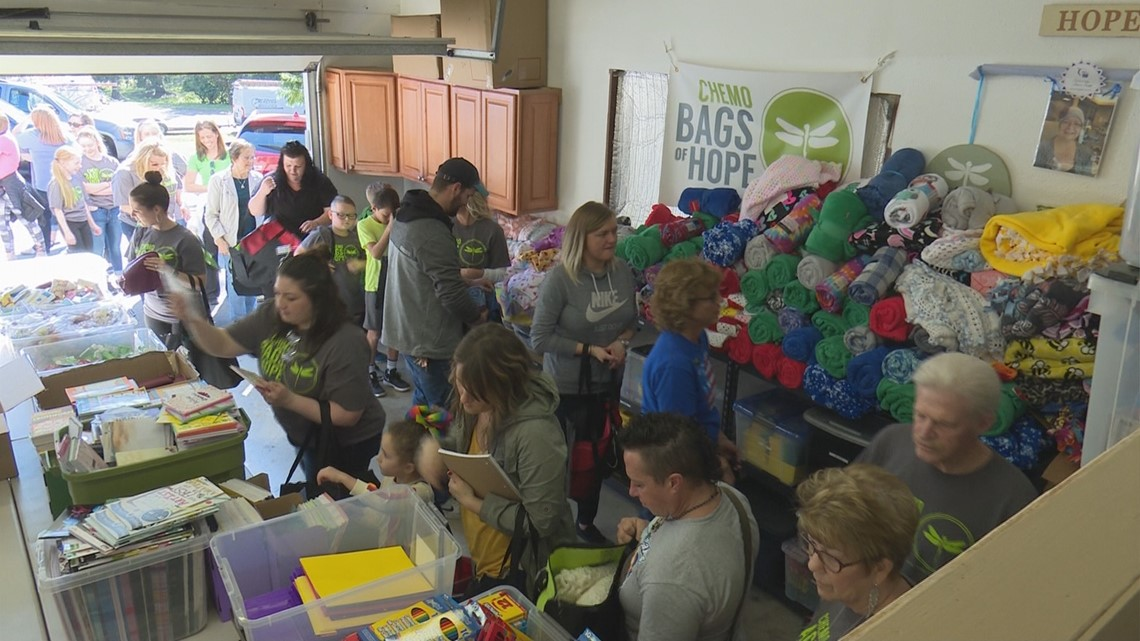 Covington group makes goodie bags for cancer patients