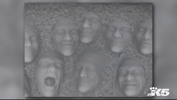 How to make 3D snow faces and creep out your friends