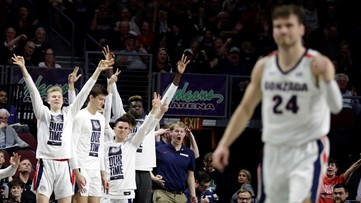 Gonzaga finishes No. 2 in final AP poll; Kansas in first