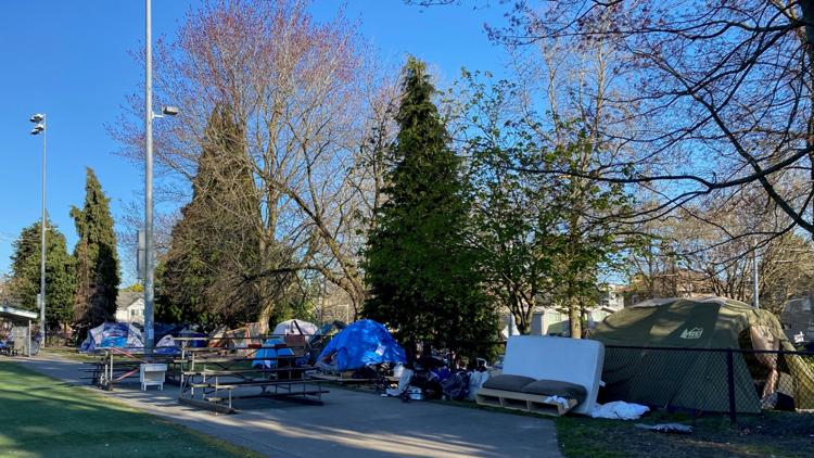 Homeless campers to be cleared from Seattle's Miller Park as students return to nearby school