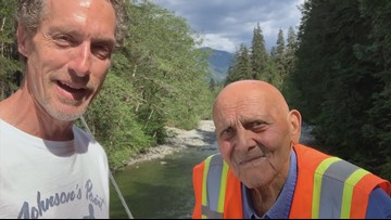 96-year-old Washington hiker offers message of hope despite rough life