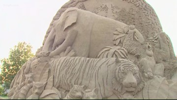 Sand artist brings work to Point Defiance Zoo in Tacoma