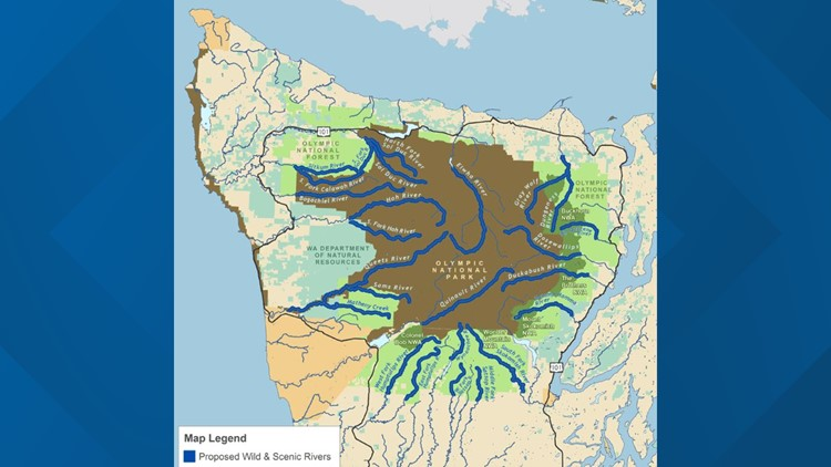 Map of Proposed Wild and Scenic Rivers