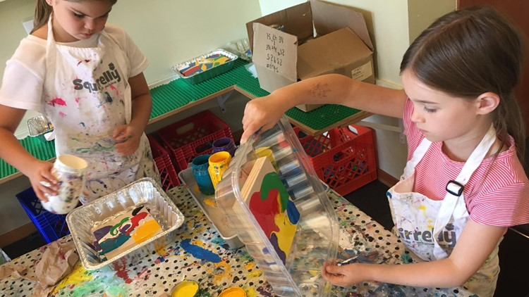 Block and Gelatin printing is a kid-friendly craft project perfect for summer