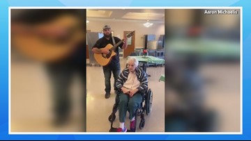 Senior citizen's singing voice stuns her Shelton community