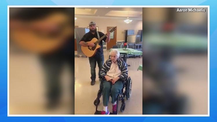 Senior citizen's singing voice stuns her Shelton community