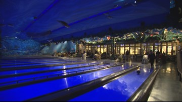Underwater bowling and neon drinks at Uncle Buck's Fishbowl & Grill in Tacoma