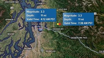 3.2 earthquake hits near Snoqualmie, following a smaller quake