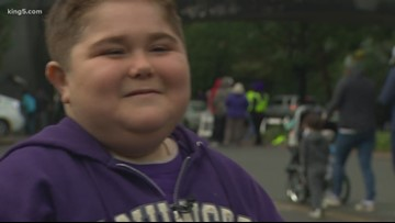 Boy with genetic disorder named honorary co-captain at Huskies football game