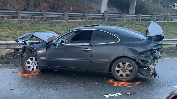Hit-and-run driver causes 12-vehicle crash on SR 599 in Tukwila