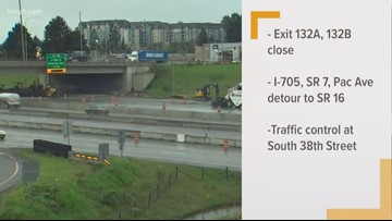 Two SB I-5 exits close in Tacoma this weekend