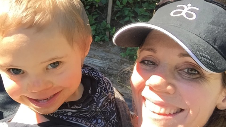Danielle Paskins, 45, of Oregon takes a selfie with her 9-year-old son, Nate Paskins.  (Provided photo)
