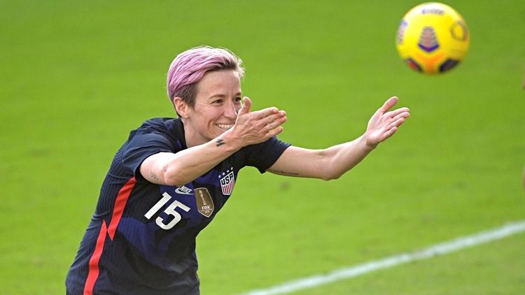 Press, Rapinoe score, US beats Brazil 2-0 in SheBelieves Cup